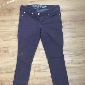 Purple Express skinny jean legging!